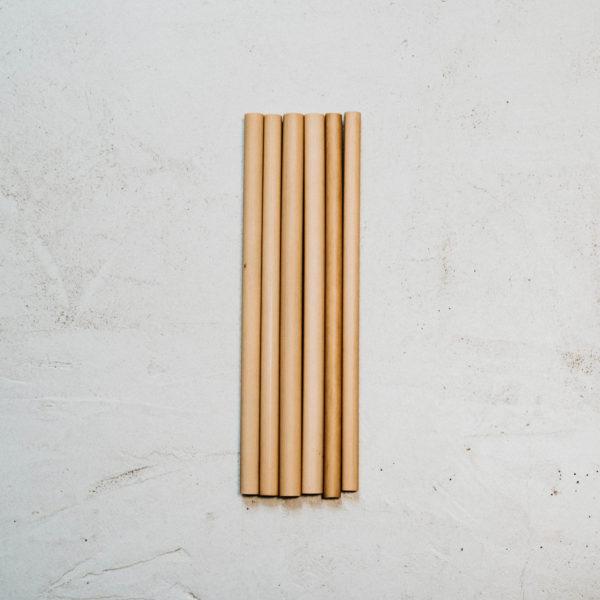 6 pailles bambou 20cm diamètre moyen 10mm