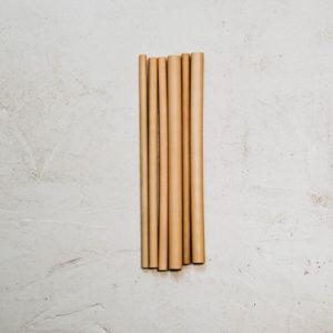 6 pailles bambou 20cm mix diamètres aléatoires