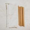 6 pailles-bambou pochette coton goupillon nettoyage